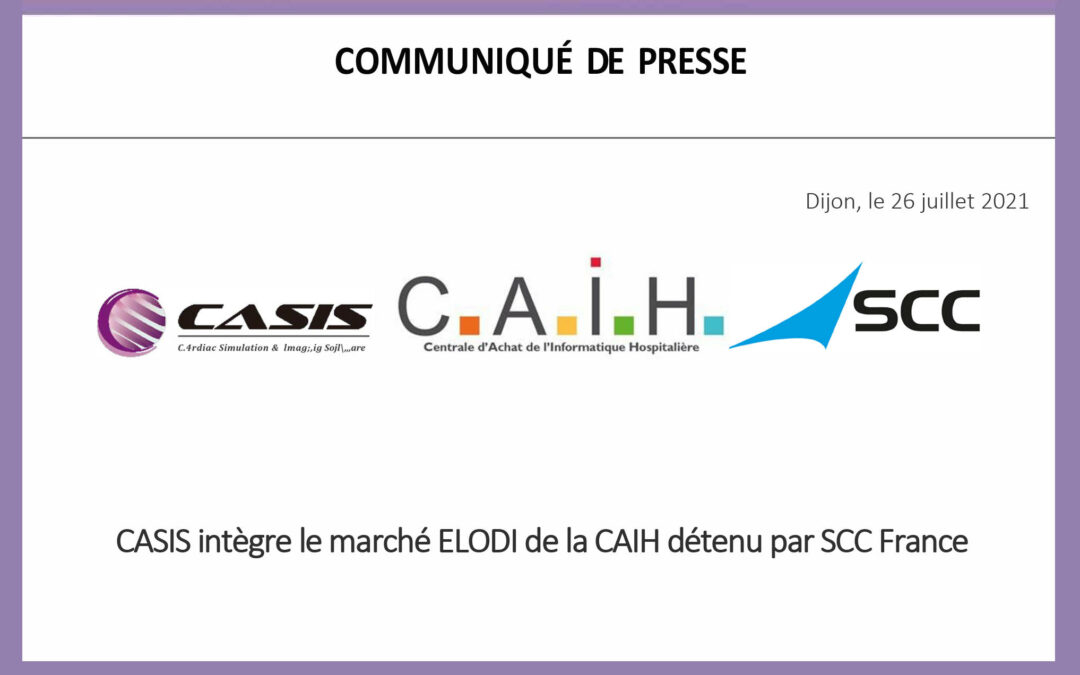 CASIS joins the CAIH ELODI market held by SCC France